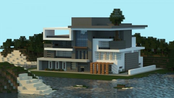 Modern Home Architecture Minecraft modern house i made in minecraft. | jar9 modern houses and