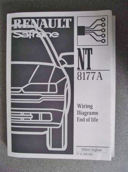 Renault Safrane Wiring Diagrams Manual 2000 End Of Life