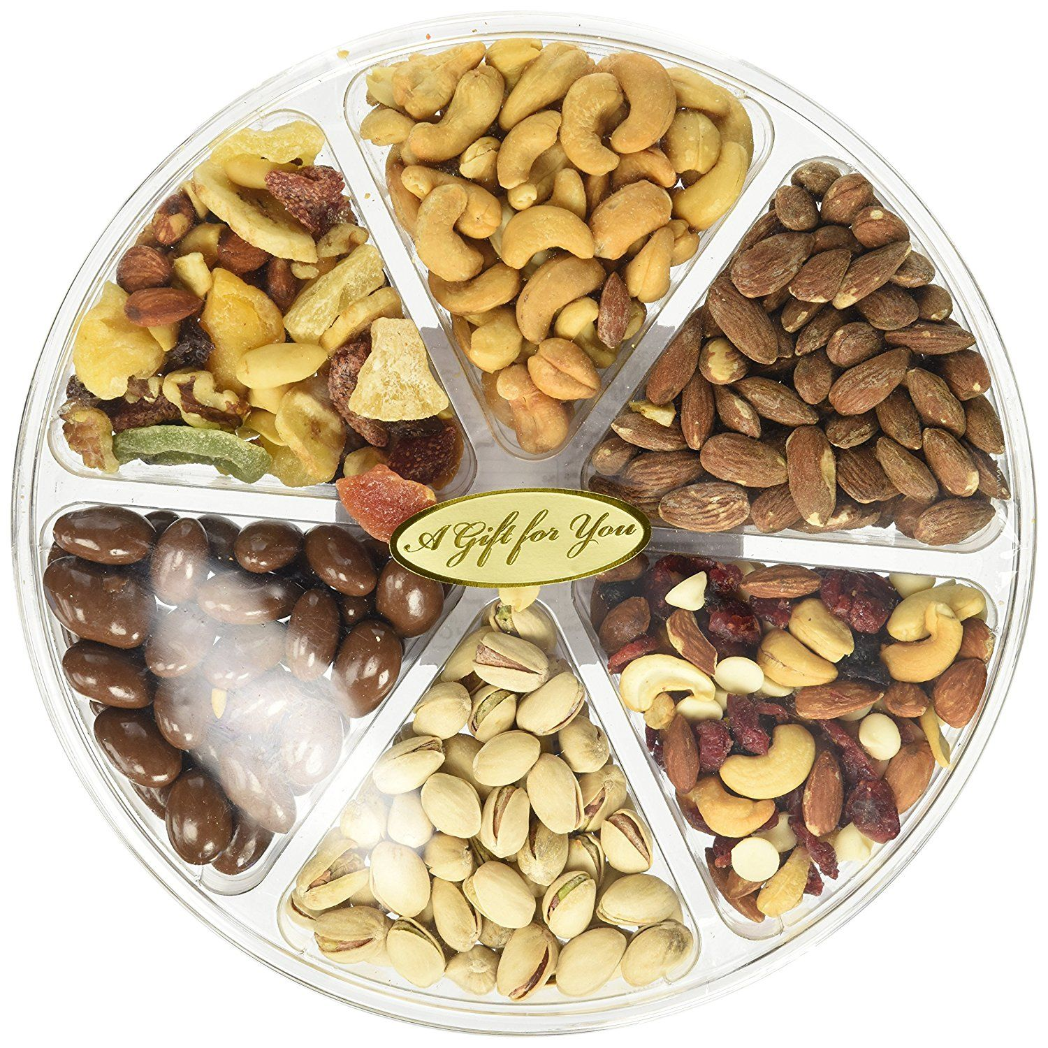 California Natural Nuts A Freshly Roasted Nut Gift Tray 2 Lbs A Delicious Salted Almonds Buttery Cashews Tasty Gourmet Nuts Healthy Food Gifts Food Gifts