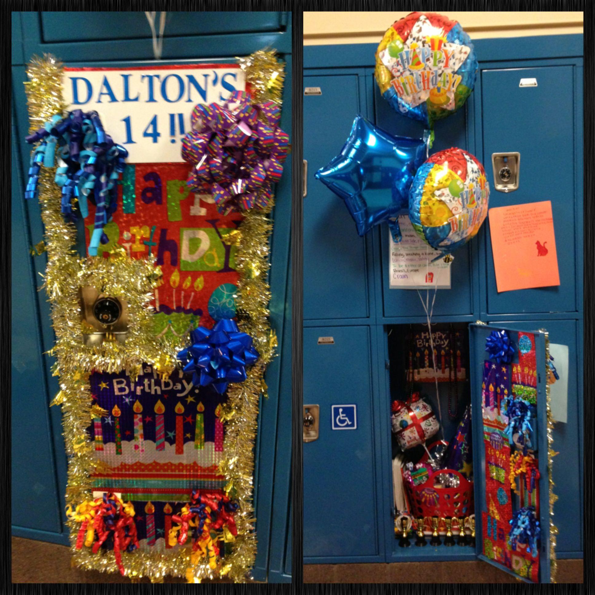 Birthday Locker. Birthday Locker Decoration. Locker Decor