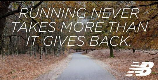 Running never takes more than it gives back. #newbalance