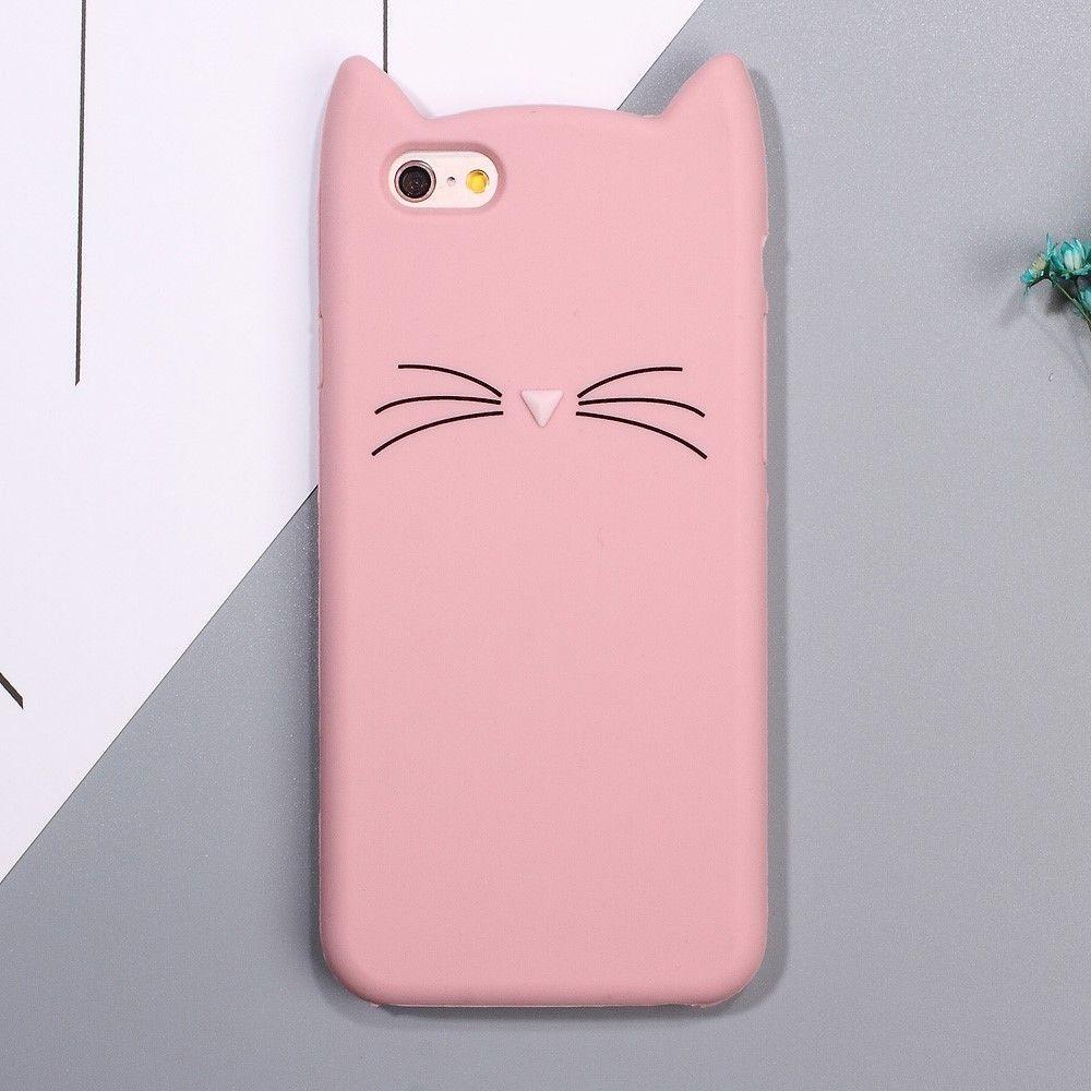 Coque iPhone 6s / 6 Silicone Design Chat - Rose | Coque iphone 6 ...