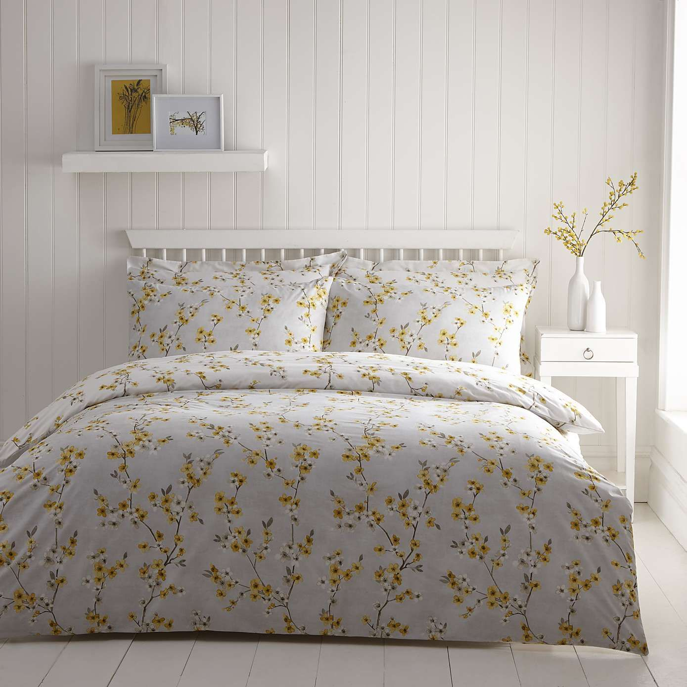 yellow reversible kingsize duvet cover