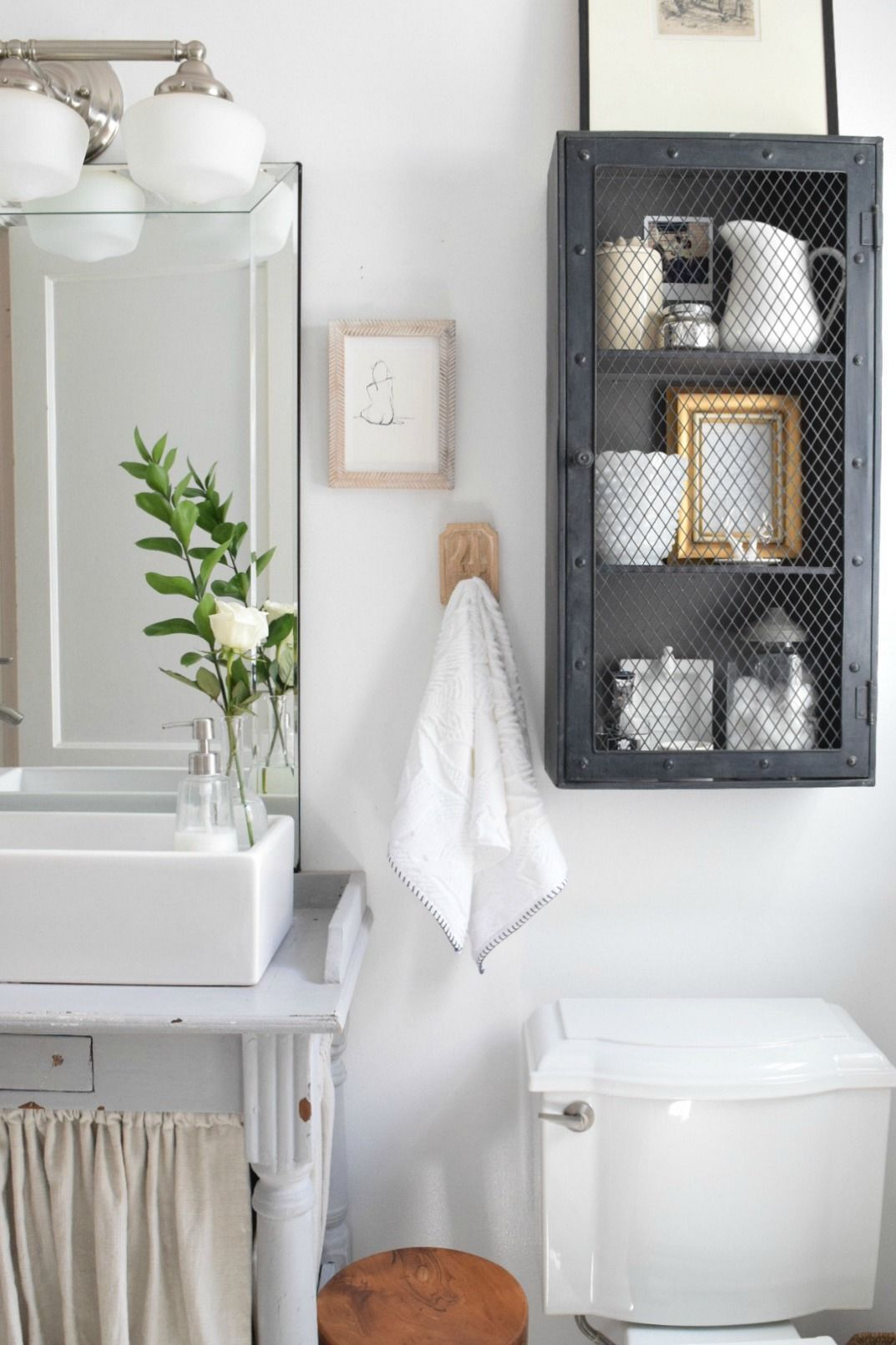 Small Bathroom Ideas And Solutions In Our Tiny Cape Small - Storage solutions for small bathrooms for small bathroom ideas