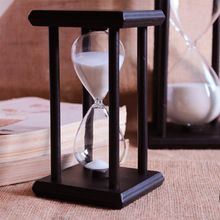 bf0a85a9731 30 Minutos da areia da Ampulheta de Contagem Regressiva de Tempo 14.5 8 8  cm Moderna De Madeira Ampulheta Ampulheta Areia Relógio Temporizador  Decoração ...