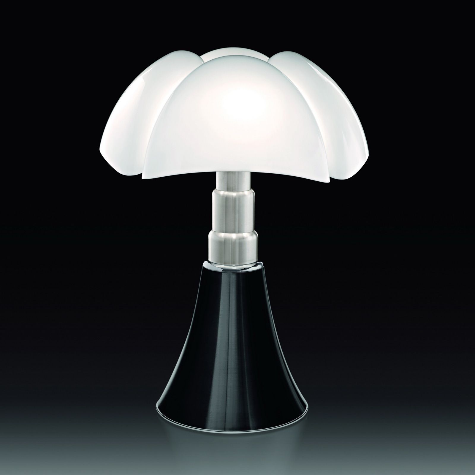 Table Or Standing Lamp With Diffused Light Adjustable Height With
