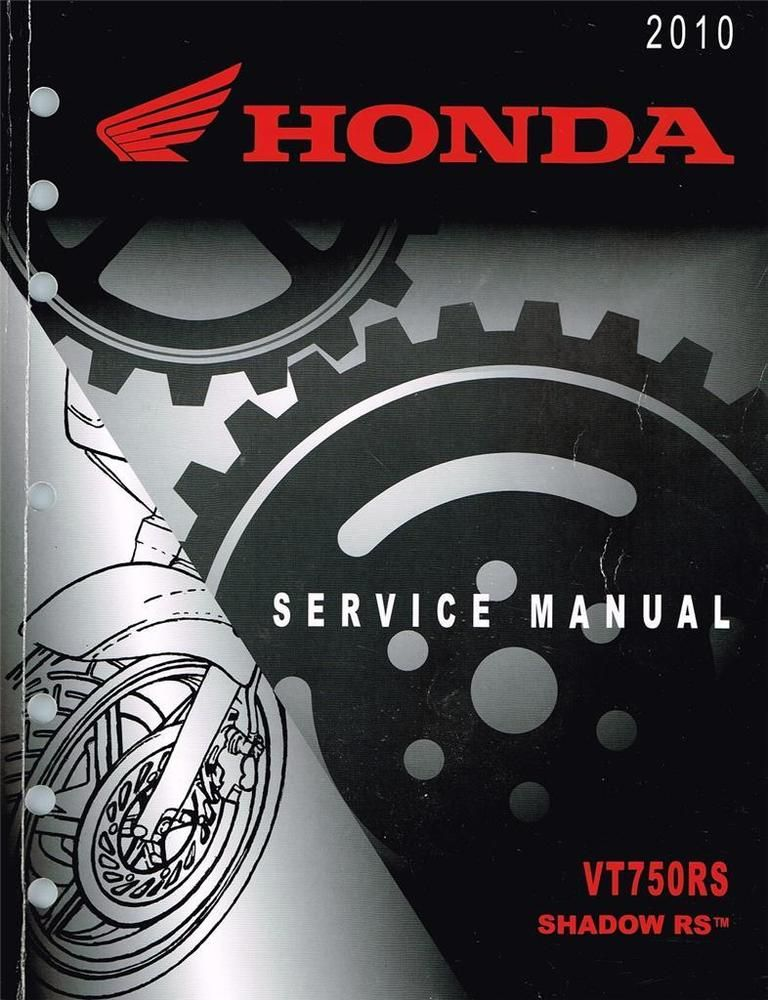 Honda Vt750rs Shadow Rs Service Manual 61mgr00 Genuine Honda Manual 2010 Repair Manuals Honda Manual
