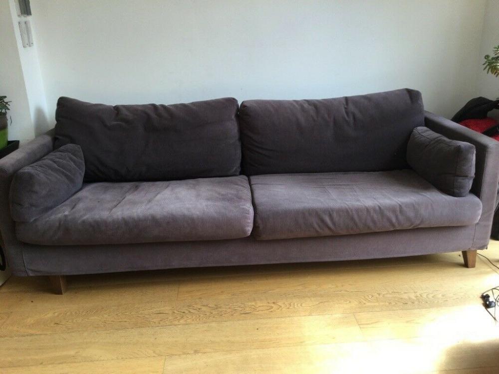 Three Seater Ponza Sofa In Grey Fabric In Twickenham London Gumtree Sofa Grey Fabric Three Seater