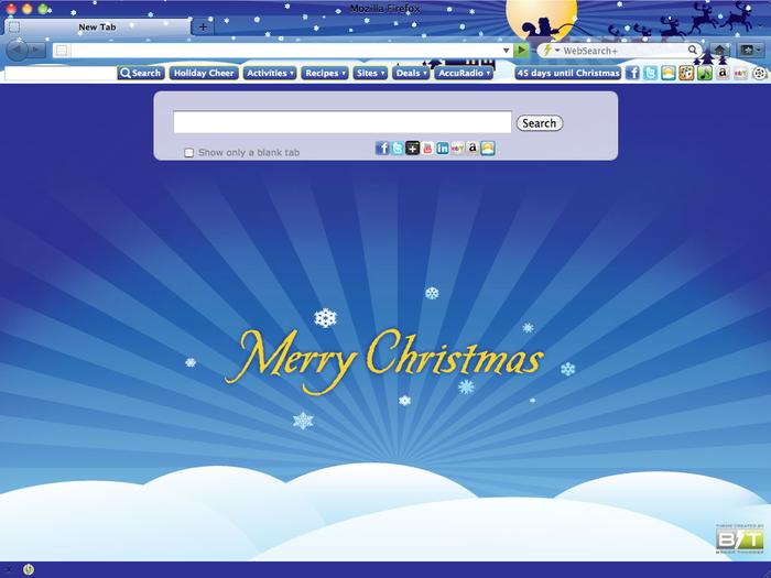 christmas santa browser theme for google chrome browsers christmas