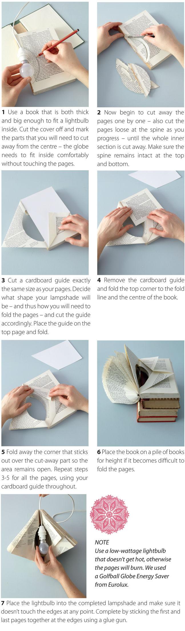 tuto pour une lampe livre recycling pinterest lampe. Black Bedroom Furniture Sets. Home Design Ideas