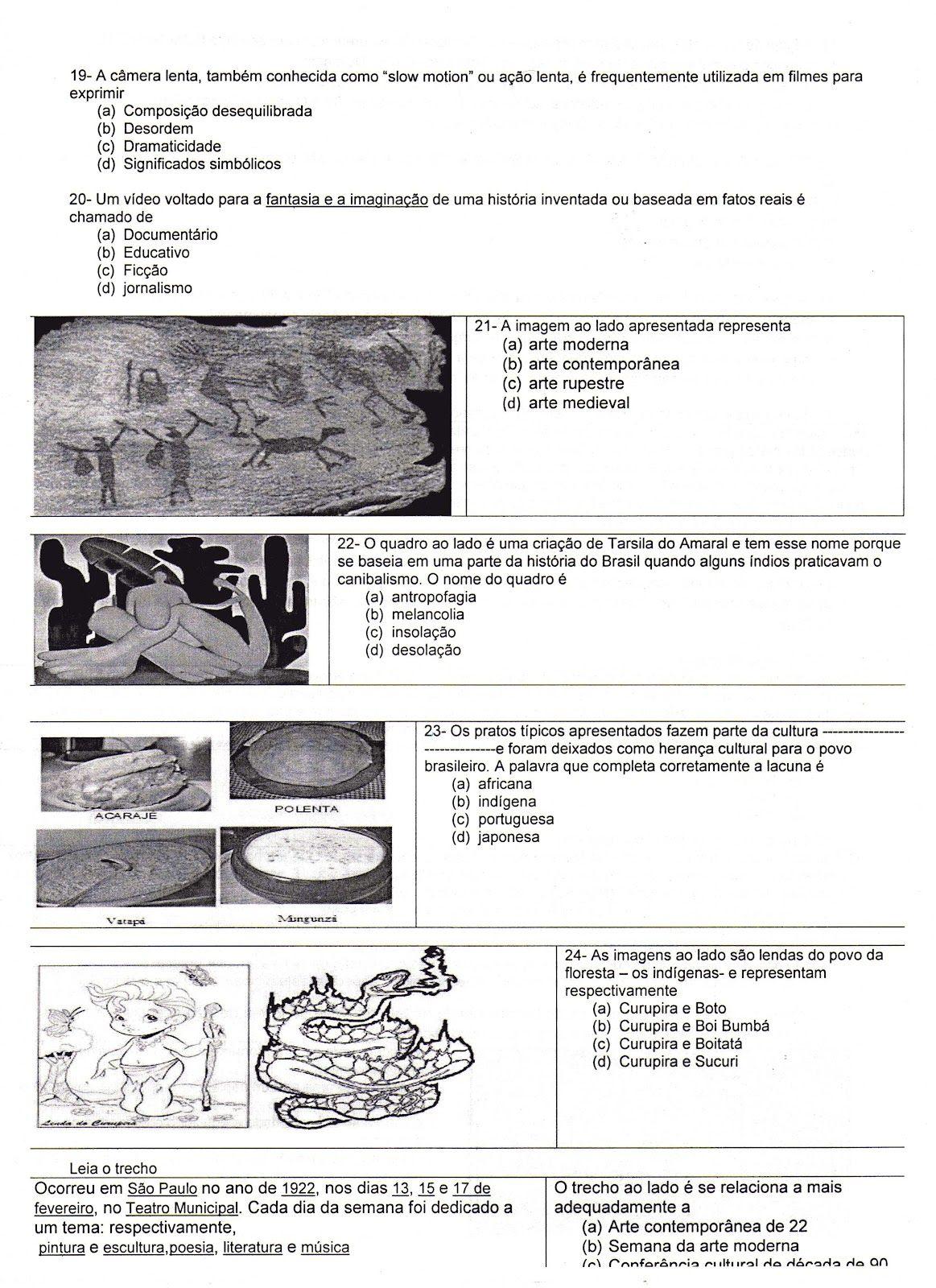 Avaliacao De Arte 2 Arte No Ensino Medio Atividades De Artes