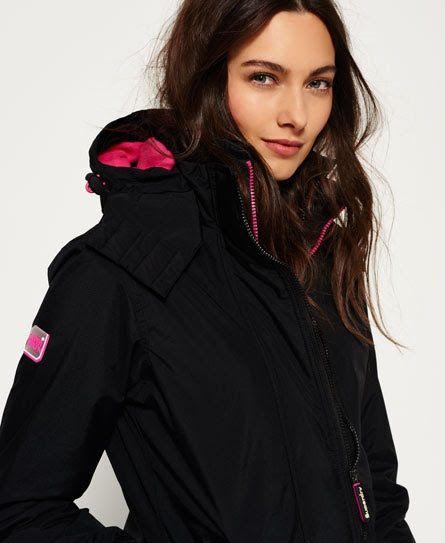 Superdry Pop Zip Hooded Arctic Windcheater Jacket Black  4400d523ded