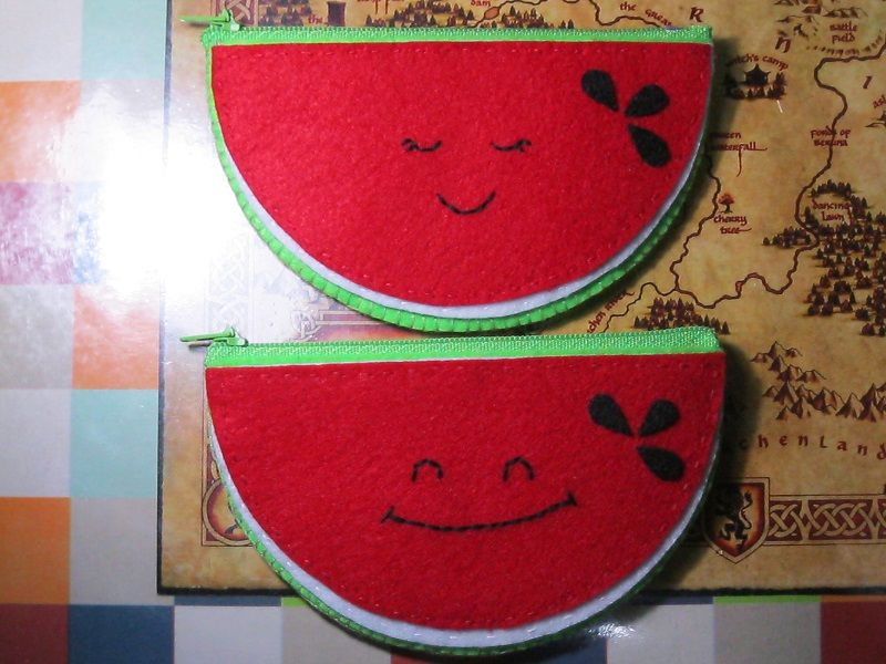 felt craft | Watermelon coin purse
