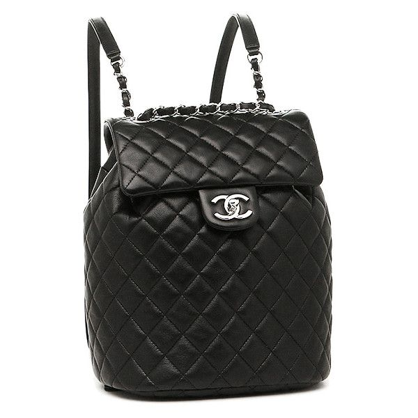 09c415db2a75 ($5,260) via Polyvore featuring bags, backpacks, day pack backpack, chanel,  knapsack bag, chanel backpack et lambskin bag