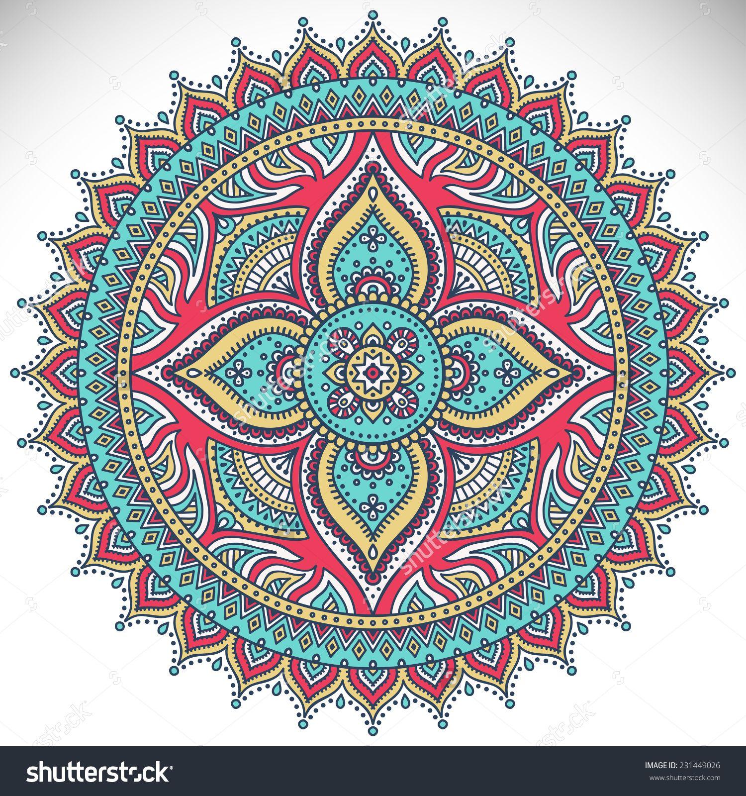 Mandala. Round Ornament Pattern. Vintage decorative ...