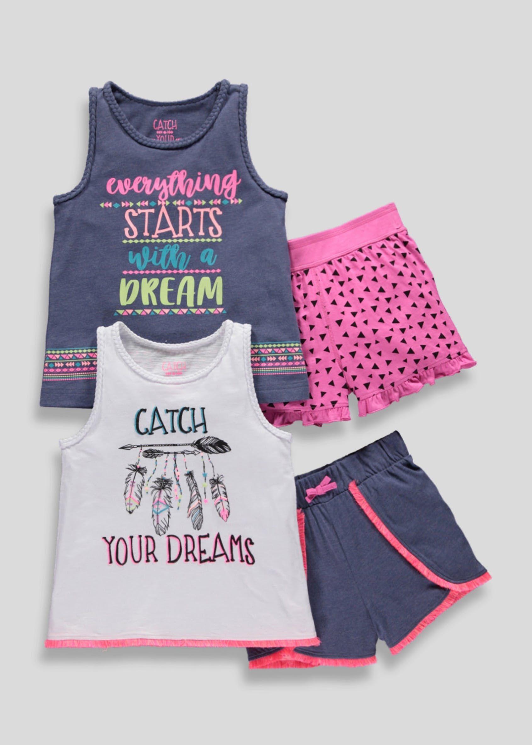 94d8482e3274 Girls 2 Pack Short Pyjamas (4-13yrs)