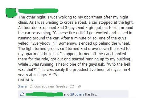 Best Chinese fire-drill ever.