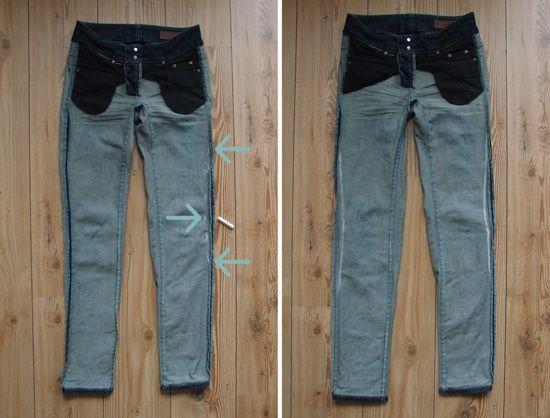 Jeans enger machen | Jeans, Anleitungen und Nähen