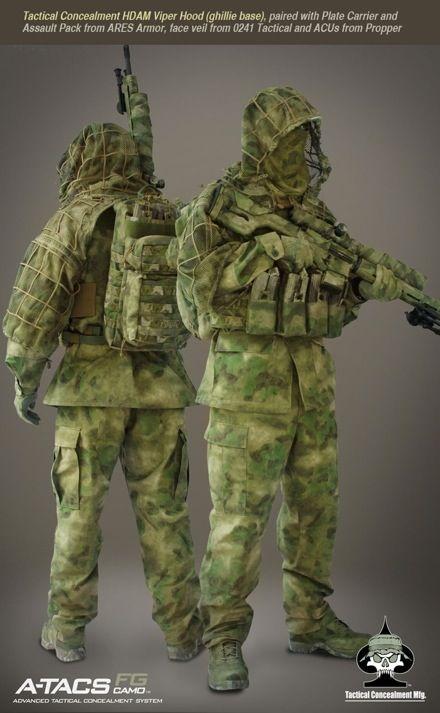 fe76b2723ea64 Now Available A-TACS FG Camo Sniper Gear from Tactical Concealment Mfg