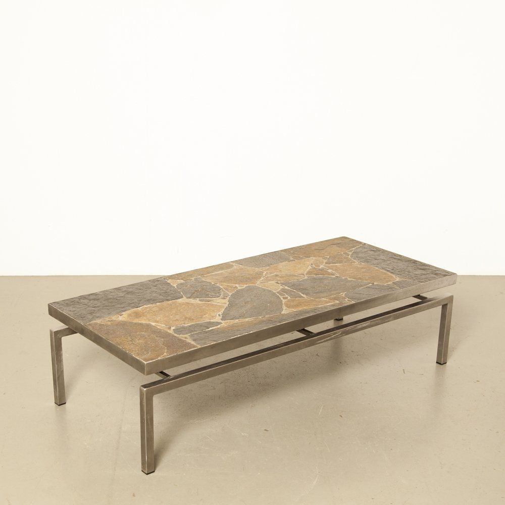 Flag Stone Coffee Table 1960s 102173 In 2020 Stone Coffee