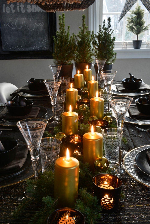 Julebord i sort og gull - Franciskas Vakre Verden