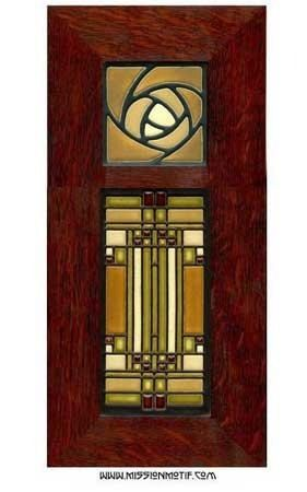 $200 Skylight and Hunter Rose Dark Oak Tiles Framed.  Frank Lloyd Wright with Dard Hunter.