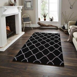Elements Rugs El65 Hand Made Wool In Red120x170cm 5 7 X4 0 Black Rug Cheap Large Rugs Home Decor