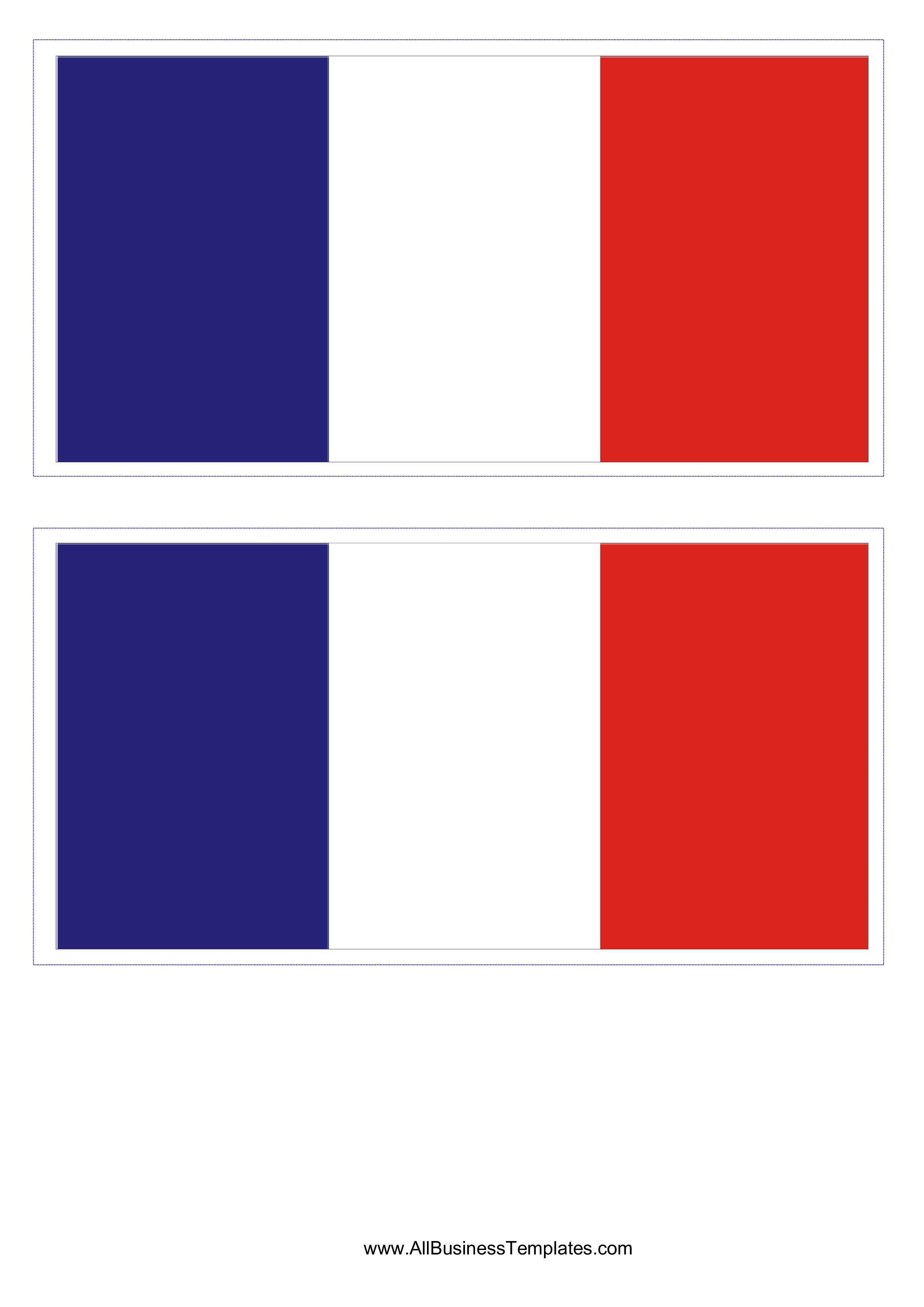 France Flag - Download this free printable French flag template A4 ...