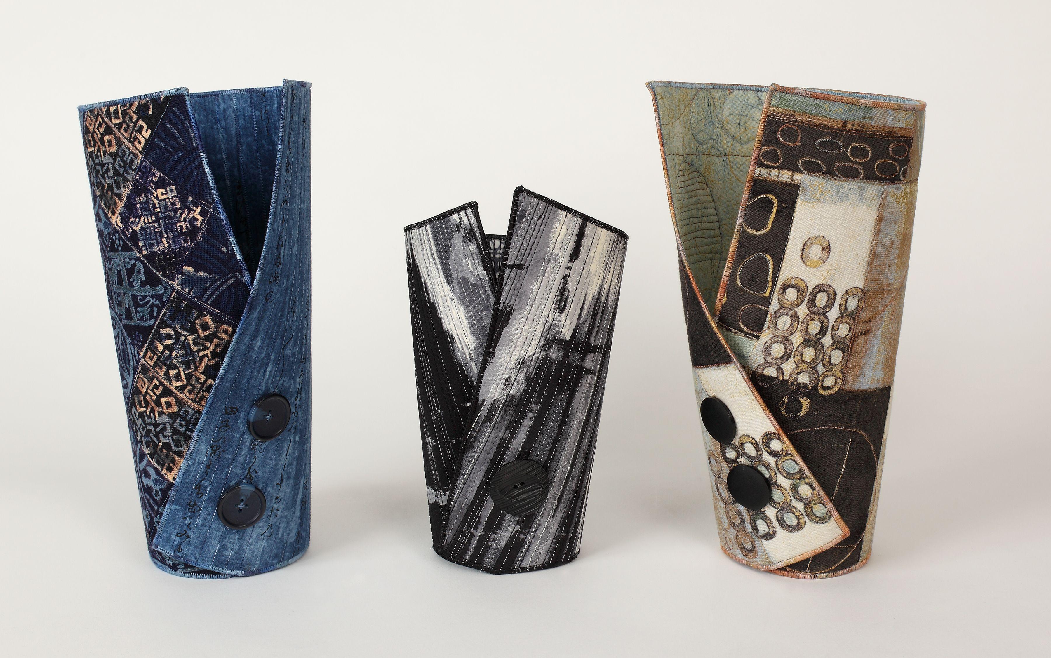 Textile vases! by anne solomon