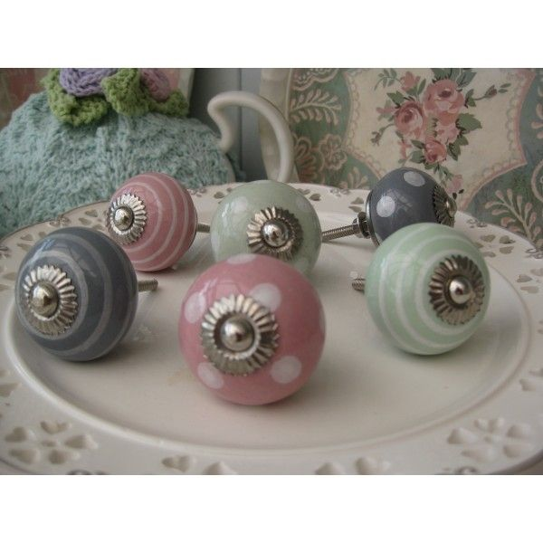 Drawer Knobs Polka Dots And Pastels