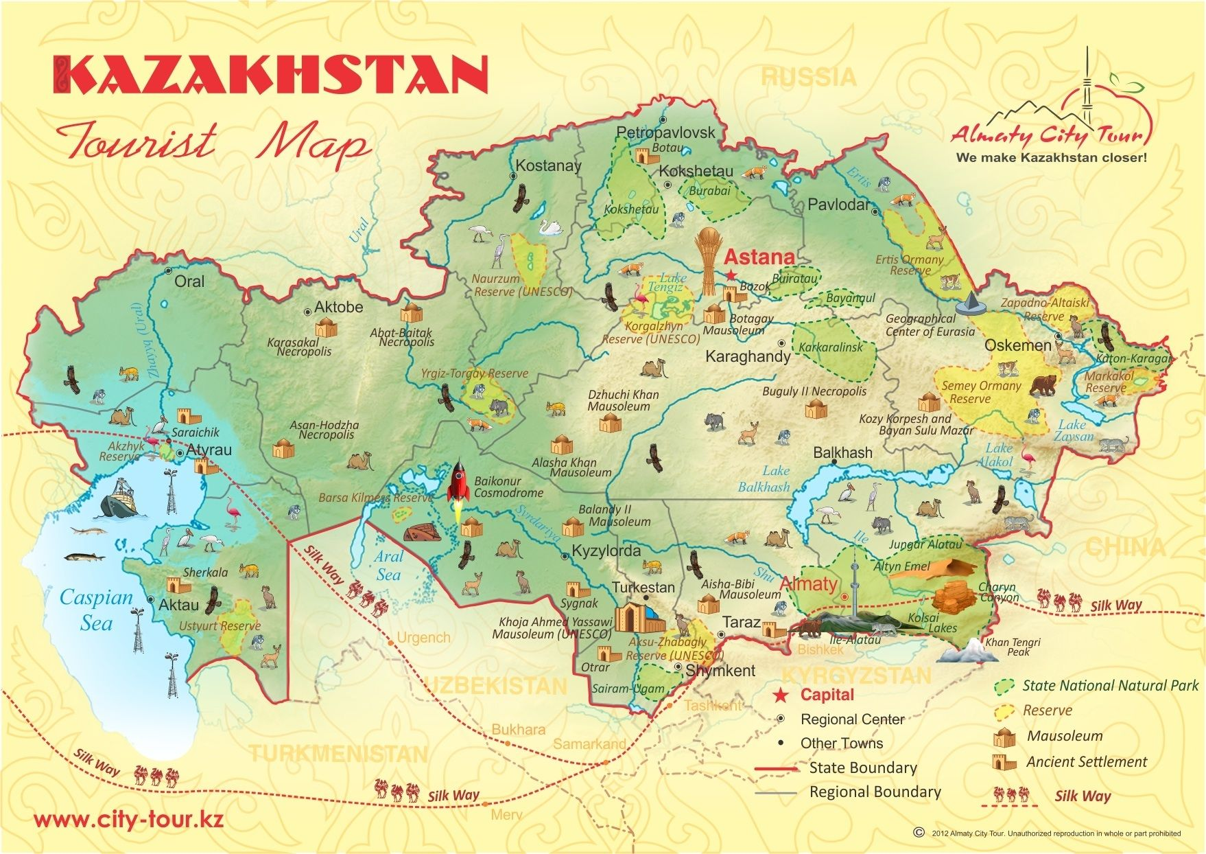 KZ map MapsInfographicHaritalar Pinterest Tour operator and City