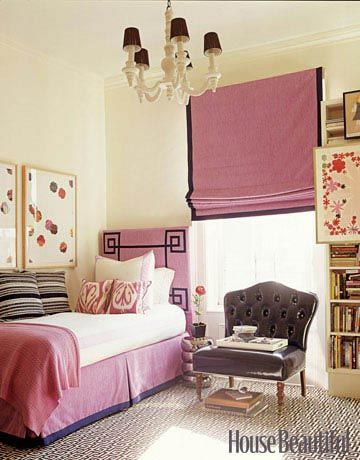 A sophisticated teenager's room designed by Amanda Nisbet. Photographed by Pieter Estersohn for House Beautiful.