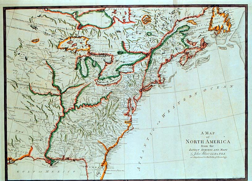 1760 A map of North America from the Latest Surveys and Maps