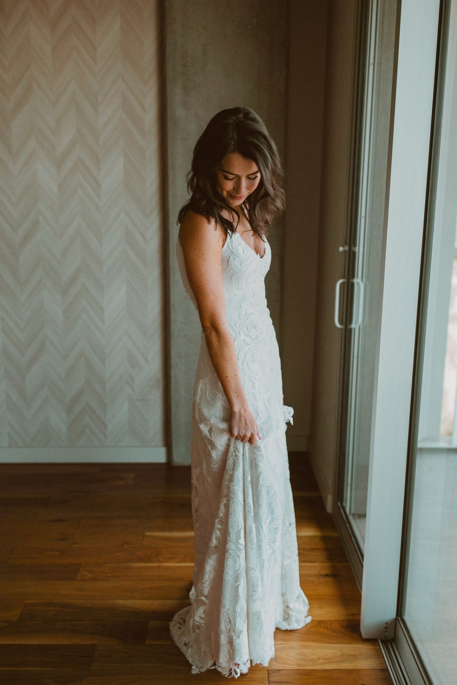 Cutest, most spunky bride getting ready for her big day