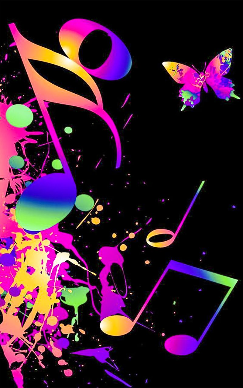 Music music wallpapers for android Dessin galaxie, Fond