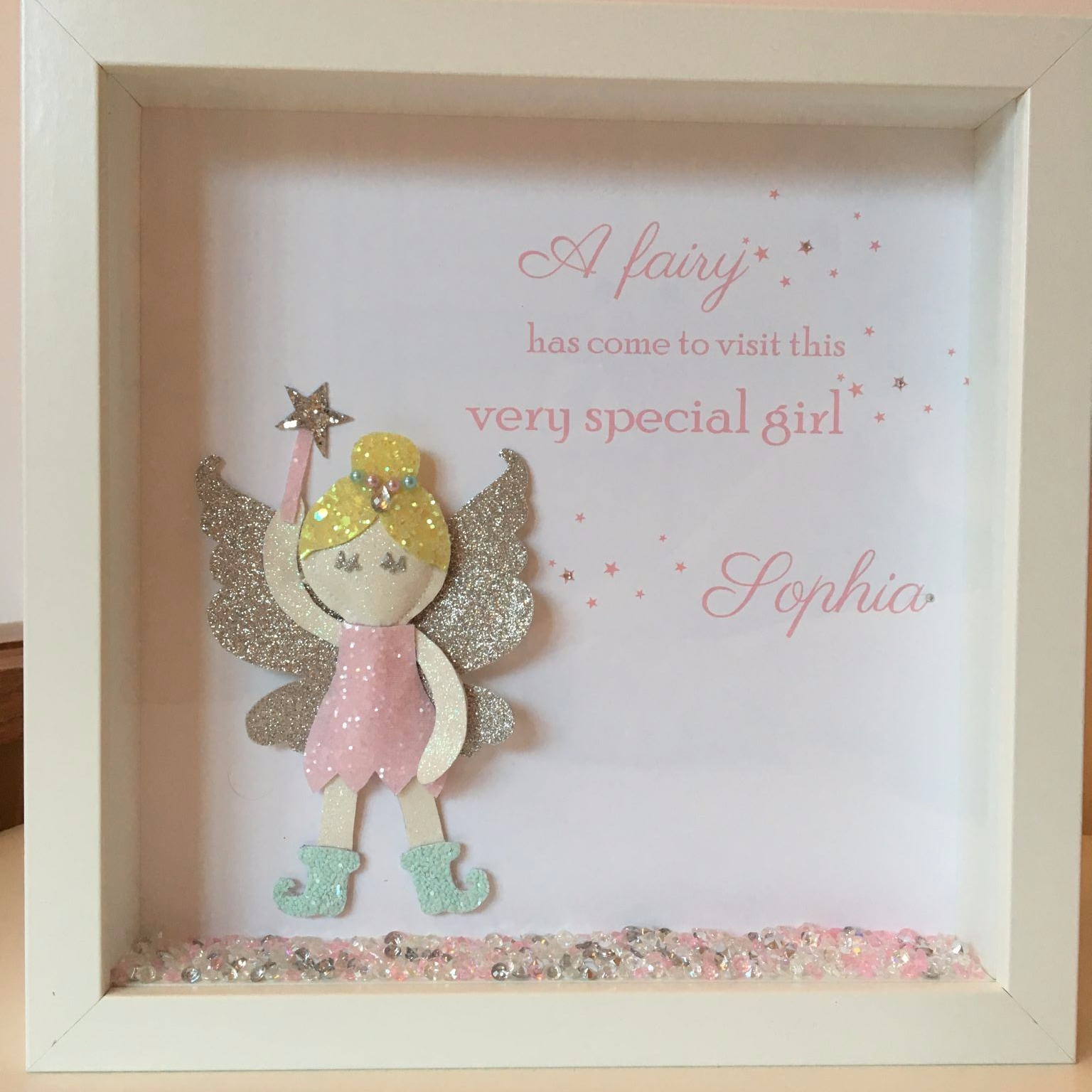 a-glitter-fairy-personalised-frame-15472-p.png | cuadros decorados ...