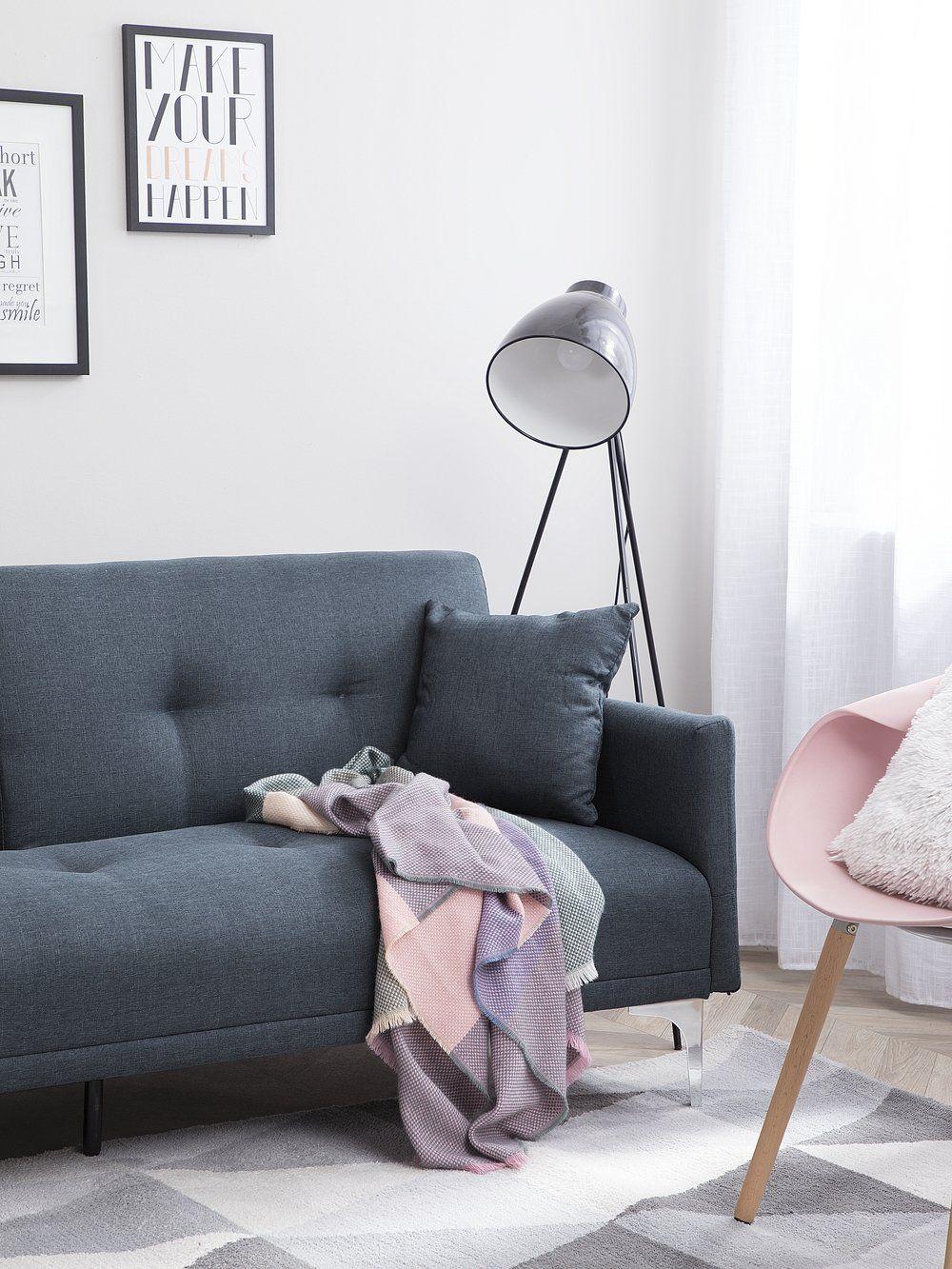 Sofa Rozkladana Granatowa Lucan Fabric Sofa Bed Grey Sofa Bed