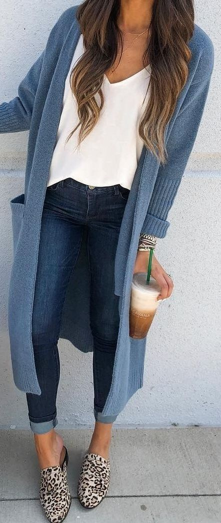 Photo of winter cardigan outfit women