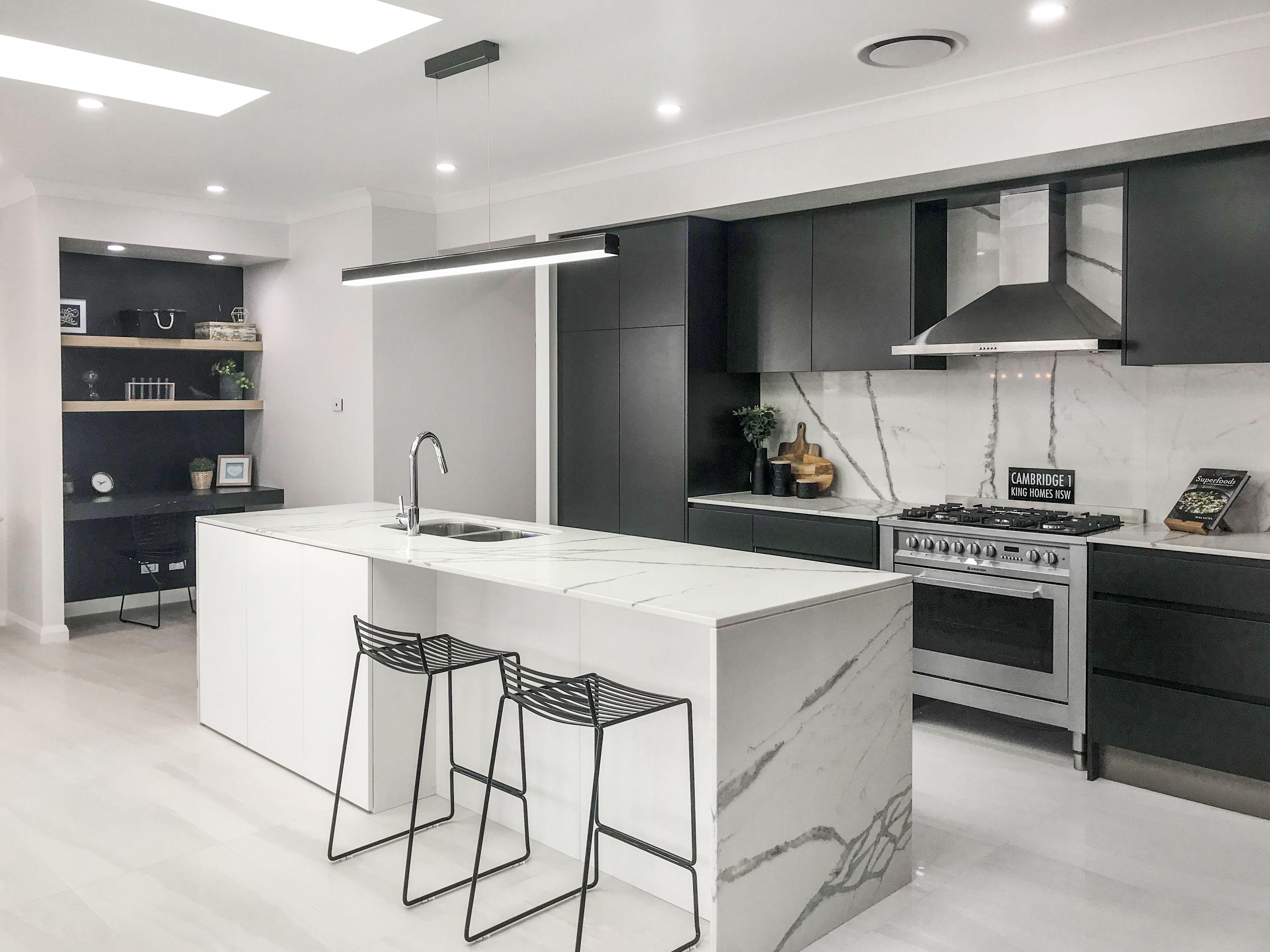 Best Polytec Cinder Matt And Polar White Kitchen Home 400 x 300
