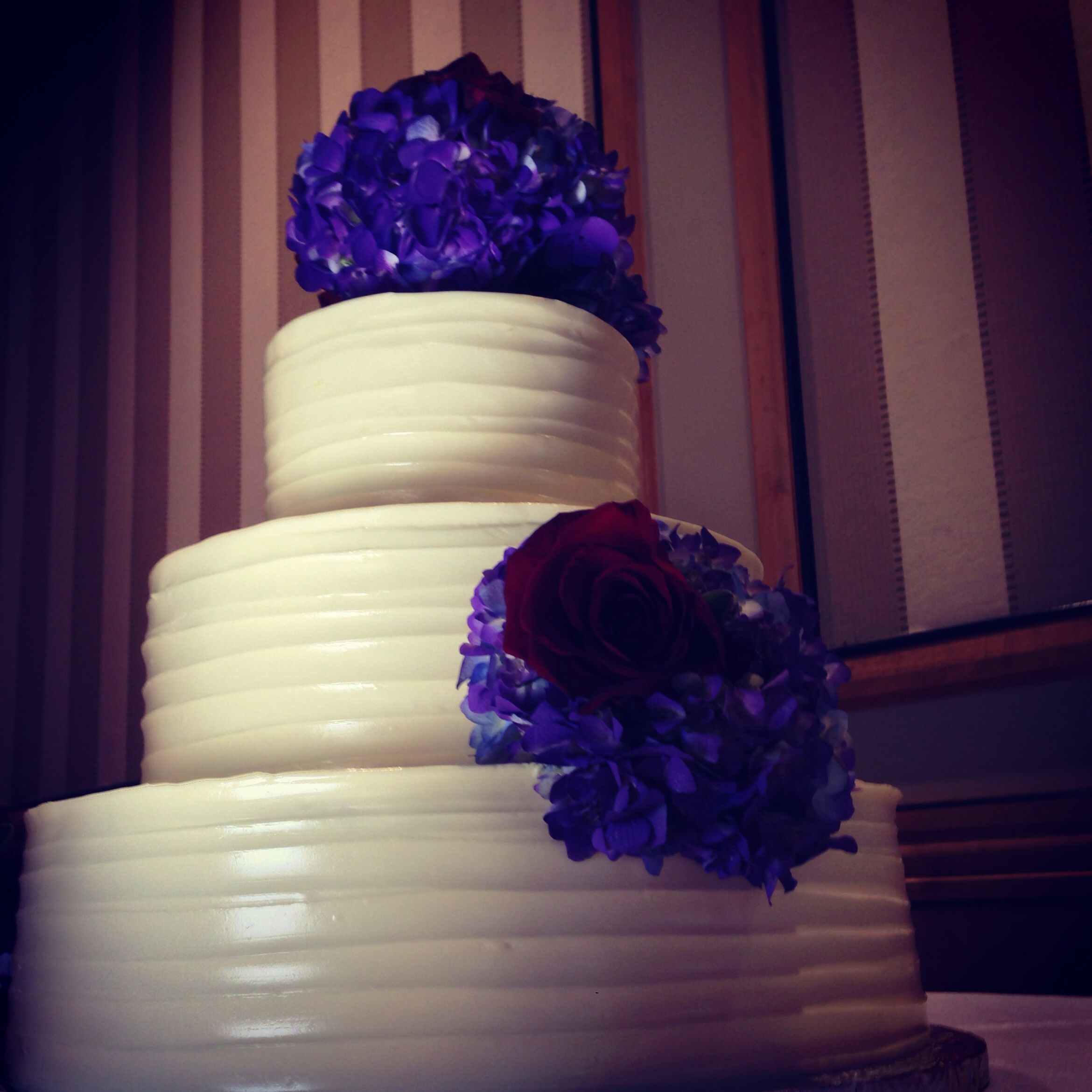 This cake is from a wedding filmed at Martins Crosswinds in Hunt Valley Md.