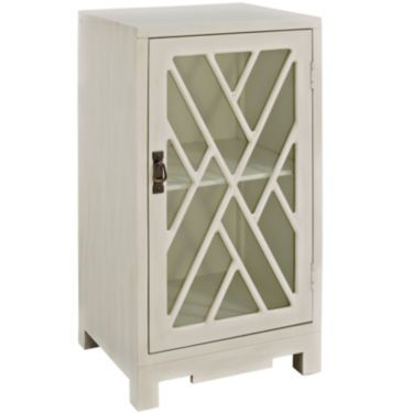 Jcp Burgess Accent Table With Glass Door For The Home