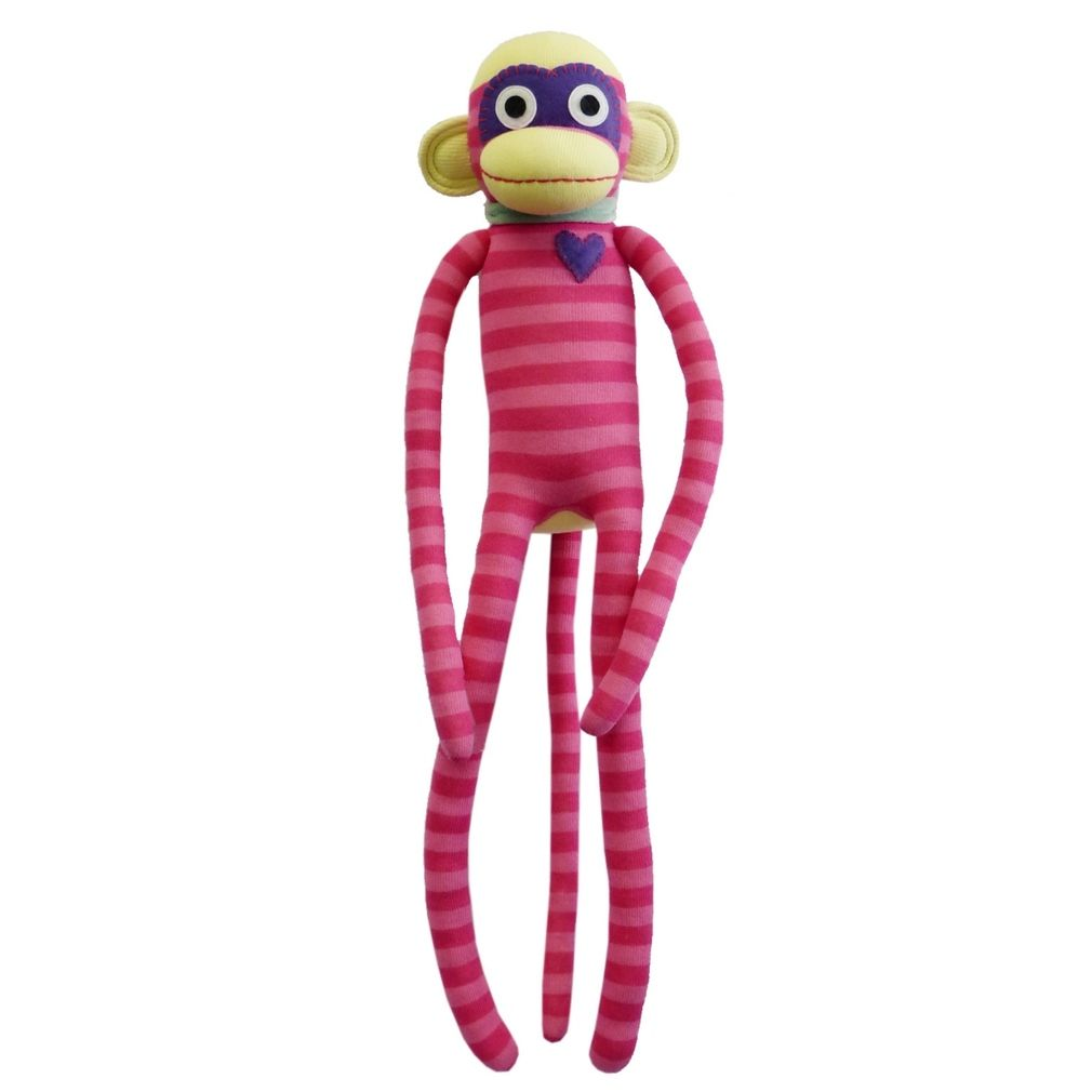 Title Nuria Pink Stripe Sock Monkey Size Measures 27 Inch 70cm Long Price Aus 51 95 Brand Boyle Industries Lots More Ite Plush Toys Plush Toy Soft Toy