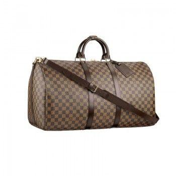 Louis Vuitton N41414 Keepall 55 mit Schultergurt Ebony Louis Vuitton Damen Reisen Taschen