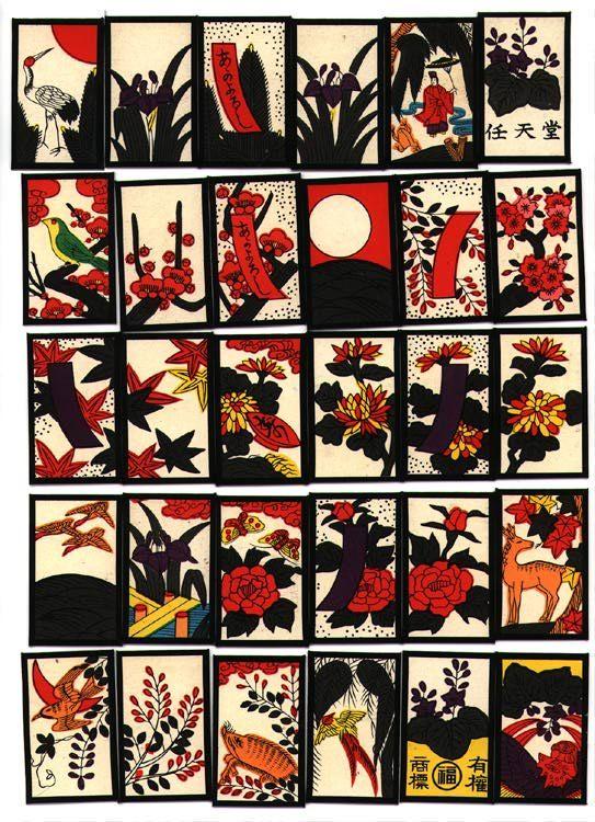 Hanafuda (花札) are playing cards of Japanese origin that