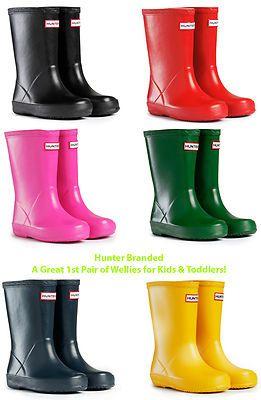 New Kids Hunter First Infants Wellingtons Boys Girls Wellies Boots Size 4-1  UK