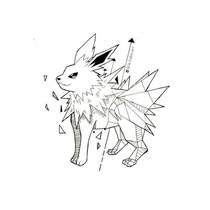 Geometric jolteon geometric pokemon pinterest animaux geometrique dessin et tatouages - Tatouage geometrique animaux ...