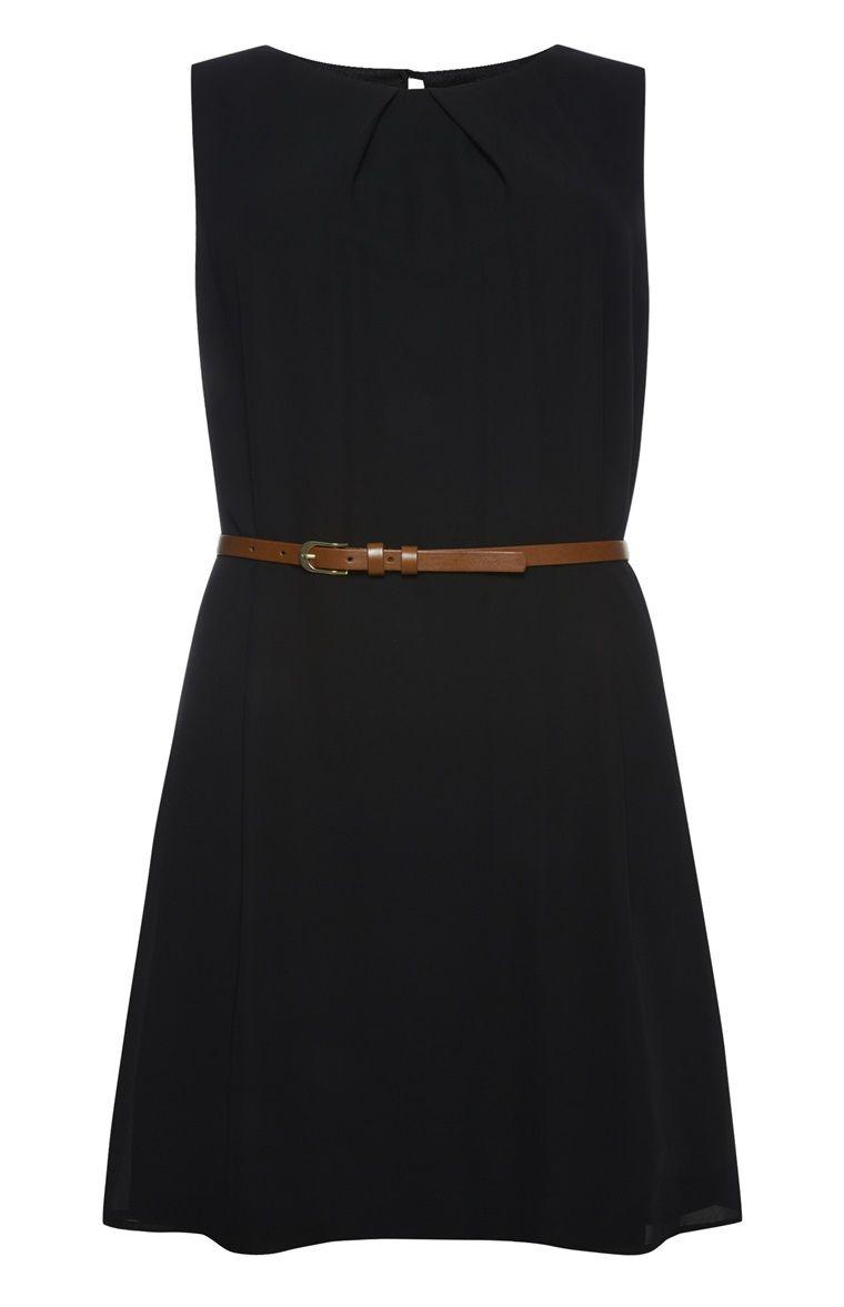 Primark - Zwart mouwloos jurkje met ceintuur  Jurkjes, Jurken