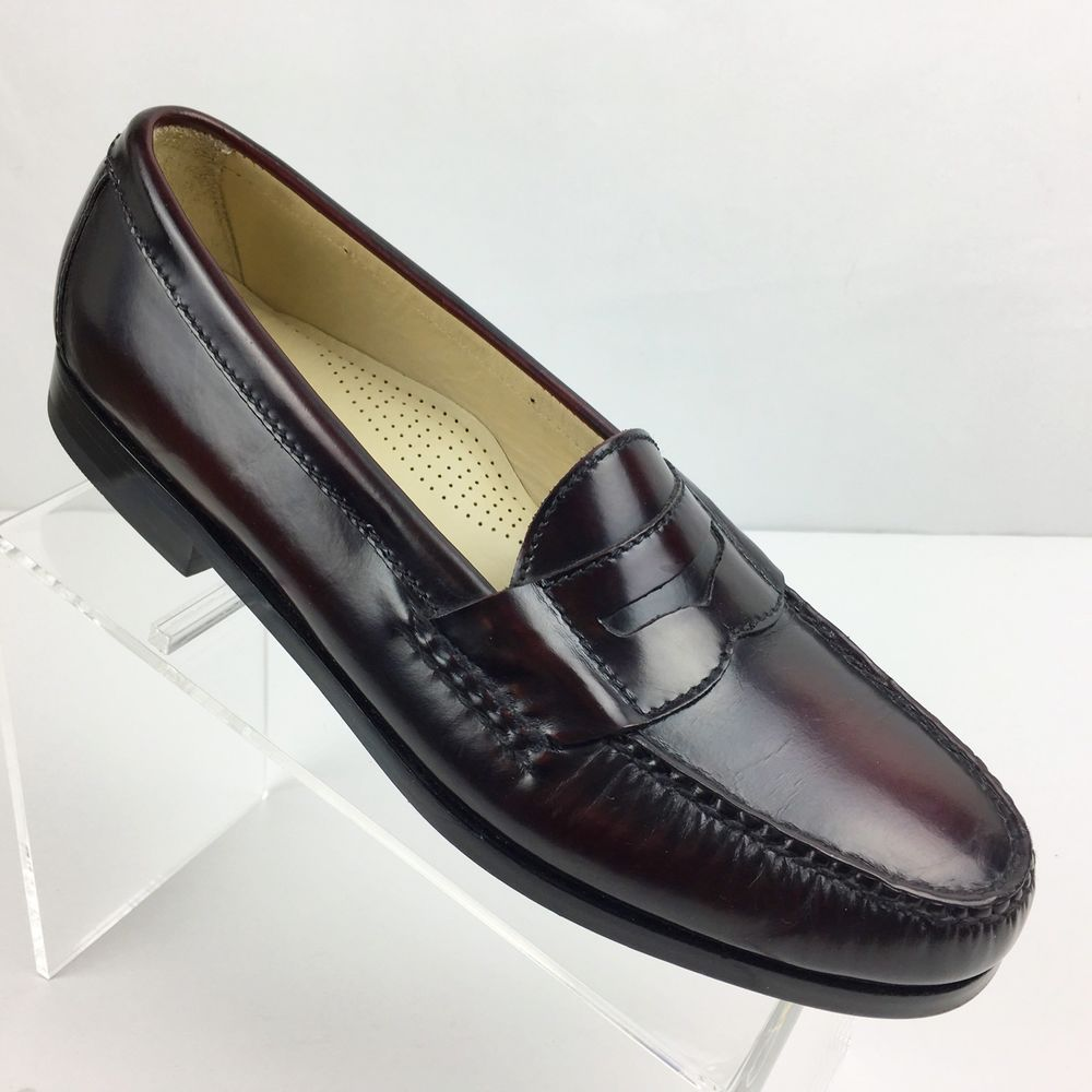 38e5002bac6 Cole Haan Mens Pinch Penny Loafer Burgundy Leather 9.5 B Dress Shoe Slip On