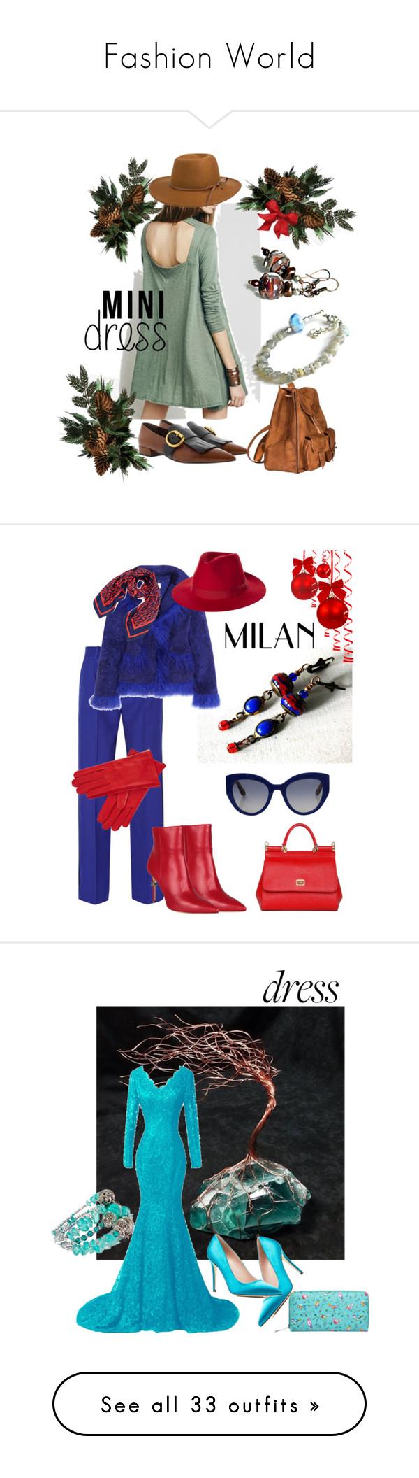 """Fashion World"" by mariannemerceria ❤ liked on Polyvore featuring Prada, Yves Saint Laurent, RHYTHM, boho, minimal, minidress, MarianneMerceria, Jonathan Saunders, Saks Potts and Dsquared2"
