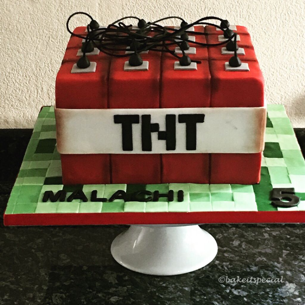 Minecraft Tnt Cake All Completely Homemade And Hand Decorated